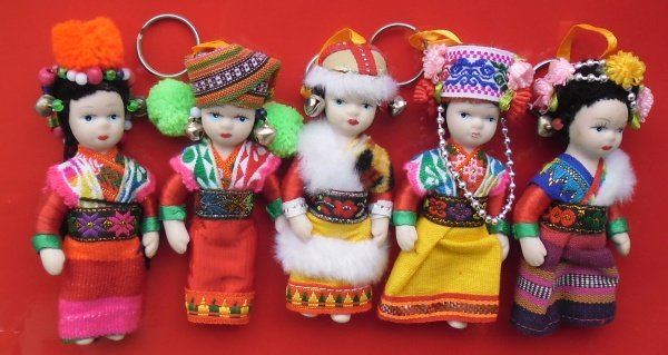 Buy this article : 5 dolls Thai traditional