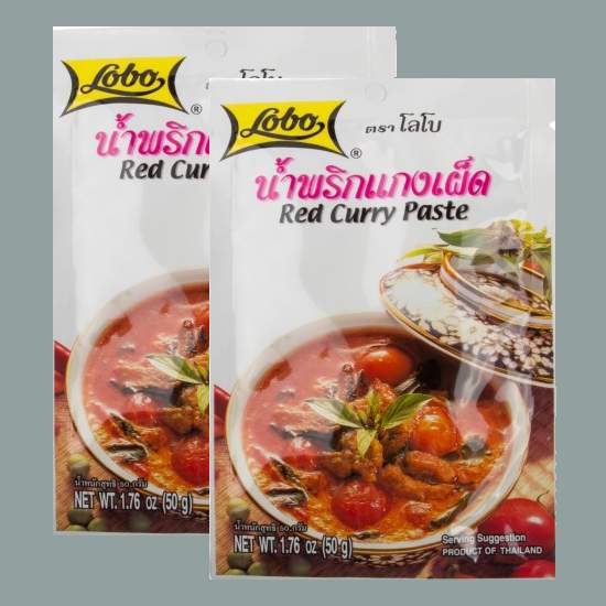 Buy this article : Red curry paste (2 bags of 50g)