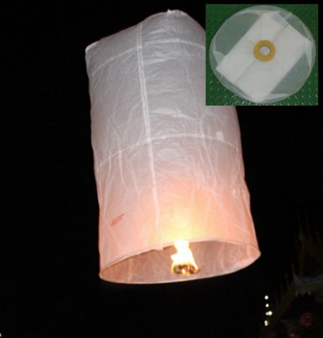 Buy this article : 5 flying Thai balloon