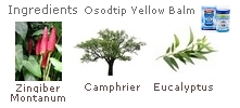 yellow balm Osod Tip a high concentration of camphor. Made in Thailand