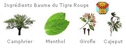 Composition et ingrédients à partir desquels est fabriqué le baume du tigre rouge