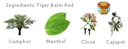 Red Tiger Balm composition and ingredients