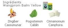 Baume Wangprom yellow, Gingembre, Patchouli, Camphor