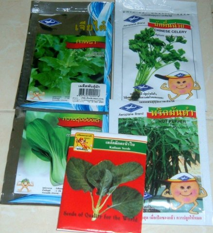 Buy this article : 5 bags of seeds Thai spices