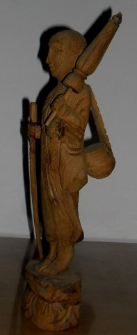 Buy this article : Thai monk umbrella carved solid wood