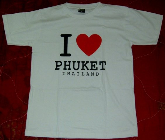 "Buy this article : T-SHIRT ""I LOVE PHUKET"" the same as Juliet Childs"
