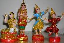 Product : Set of 4 statuettes spirit house was purchased by our customers with the article above.
