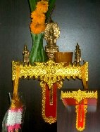 Altar to celebrate and thank Buddha