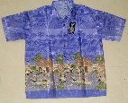 "Category ""T-shirts"" : Blue shirt Thai silk"