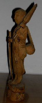 Thai monk umbrella carved solid wood