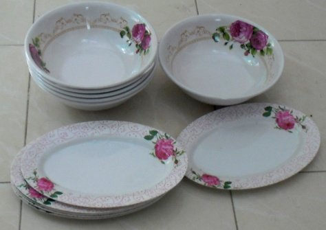 Buy this article : Set of 6 bowls and plates thai